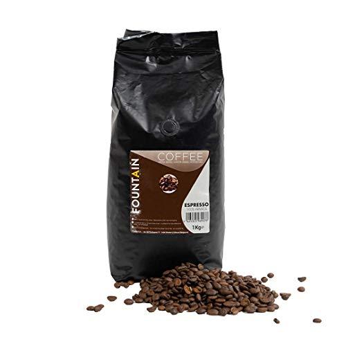 Kawa ziarnista Fountain Espresso 100% Arabika 1 kg - 100% Arabika espresso nadająca się do wszystkich typów ekspresów do kawy. Łagodna i delikatna kawa ziarnista.