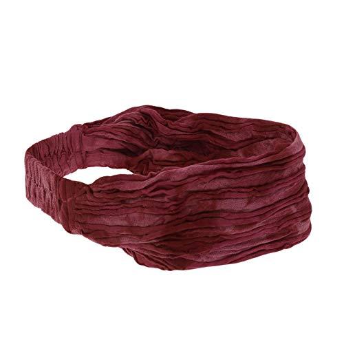 KUNST UND MAGIE unisex hippie Stonewashed Batik Kopfband Stirnband Goa Yoga, Farbe:Rot
