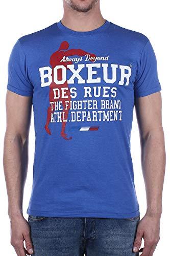 BOXEUR DES RUES - T-Shirt A Girocollo con Grafiche Stampate sul Davanti, Uomo