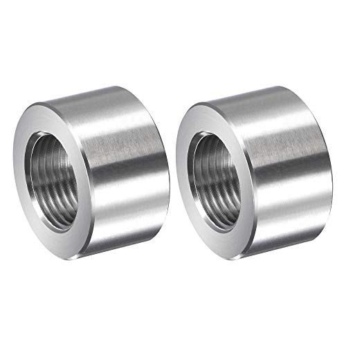 uxcell Round Weld Nuts, G3/8 Weld on Bung Female Nut Threaded - Stainless Steel Insert Weldable 2pcs