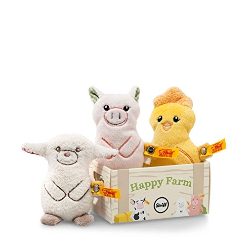 Steiff Happy Farm Mini Band, Yellow/Pale Pink/Cream