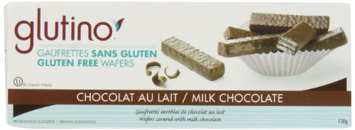 Glutino Chocolate Wafers, Chocolate Coated, 4.6-Ounce Boxes (Pack of 6)