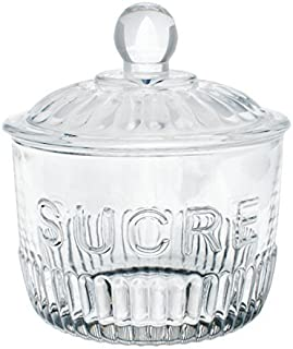 French Inspired Ribbed Glass Sugar Jar