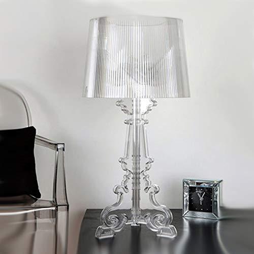 Moderne LED Tischleuchte Italian Bourgie Tischlampen Schlafzimmer Nacht Wohnzimmer Schreibtischlampe Home Decor Klarer Acryl Tisch Luminarie (Emitting Color : Small 25cmx51cm)