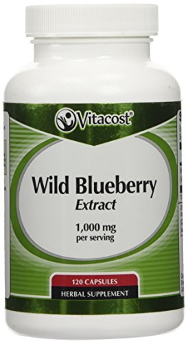 Vitacost Wild Blueberry Extract -- 1,000 mg per serving - 120 Capsules