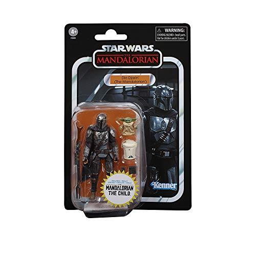 Star Wars Juguetes de DIN Djarin (el Mandaloriano) y el Niño The Vintage Collection, Figuras de acción de 9,5 cm para niños a Partir de 4 años