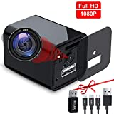 USB Hidden Camera Charger, Mini Spy Camera, USB Spy Camera Wall Charger, Wireless Hidden Cameras and Nanny Camera for Bathroom&Home, Micro Full HD 1080p Surveillance Cam (Black)