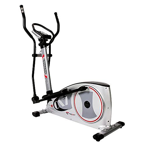 Christopeit Sport Crosstrainer-Ergometer CX 7 – 24-stufiger Widerstand, Handpuls-Messung, 12kg Magnet-Bremssystem