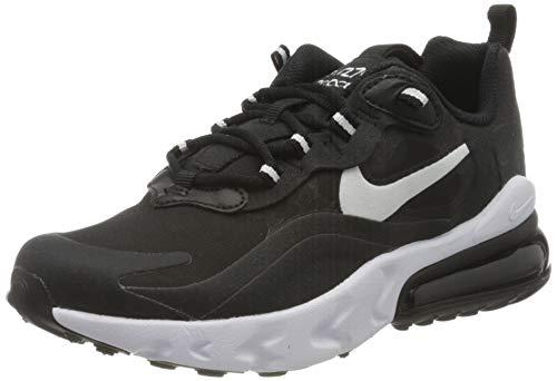 Nike AIR MAX 270 React (GS) Laufschuh, Black White Black, 36.5 EU