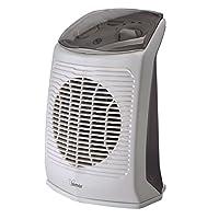 bimar hf200 stufetta elettrica bagno, termoventilatore elettrico da 2000w a basso consumo con termostato regolabile e protezione comandi, corpo in plastica con maniglia integrata