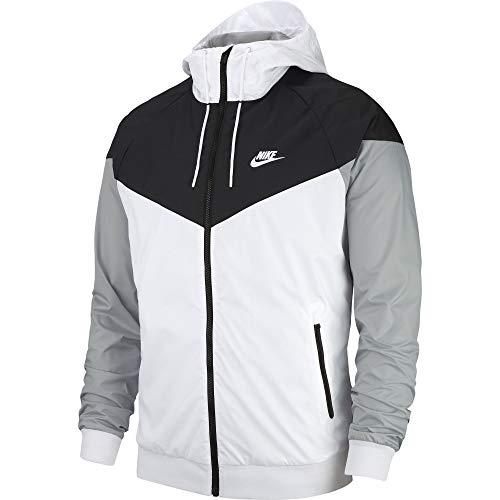 Nike Herren Sportswear Windrunner Jacke, White/Black/Wolf Grey, XS