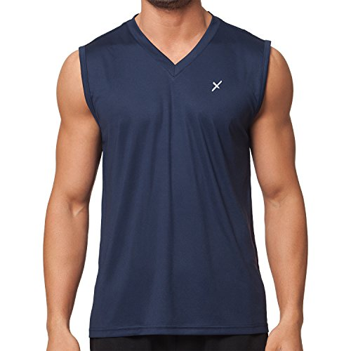 CFLEX Herren Sport Shirt Fitness Muscle-Shirt Sportswear Collection - Navy L