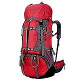 Outdoor-Tasche Bergsteigen Tasche Wandern Rucksack Laptop Rucksack Unisex Freizeit Rucksack,Red