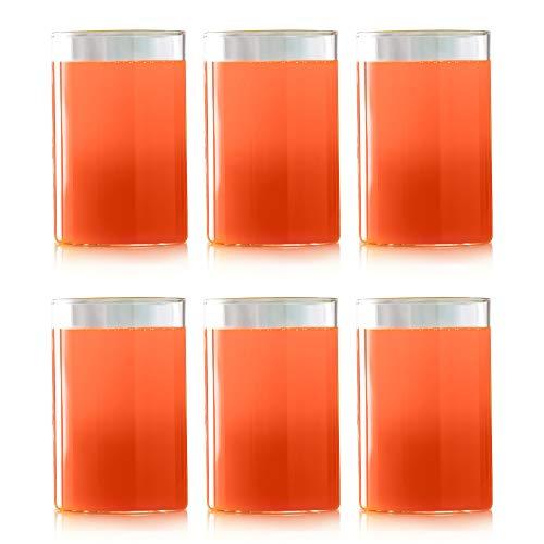 Borosil Vision Glass Set, 295 ml, Set of 6, Transparent
