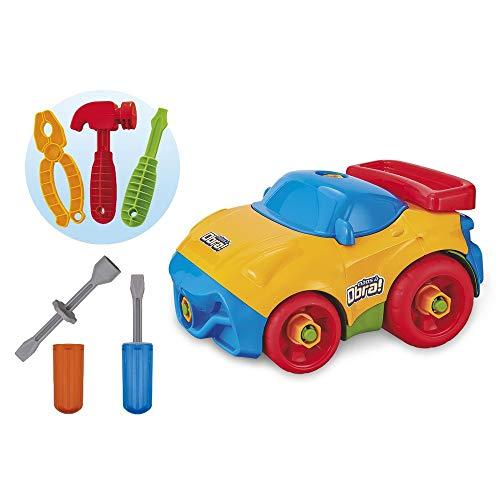 Carro monta e desmonta com ferramentas Mãos a Obra - Usual Brinquedos