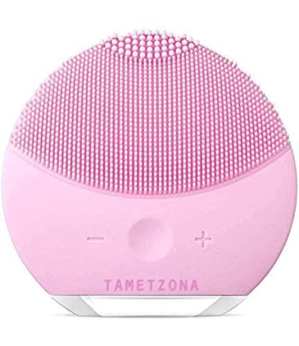 TAMETZONA Cepillo Limpiador Silicona,Masajeador Facial Eléctrico anti edad impermeable eléctrico de la limpieza con vibración
