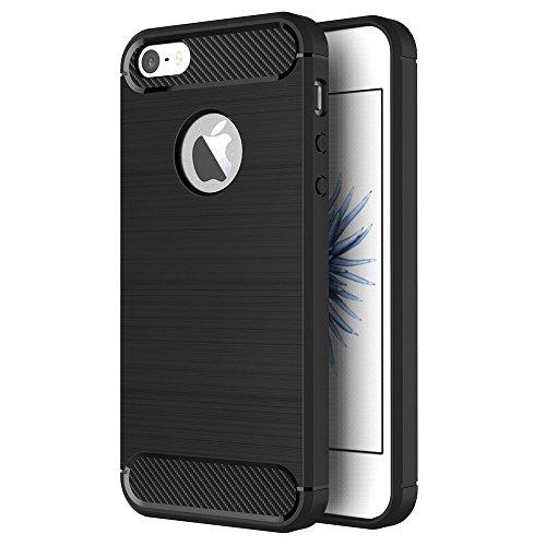 ZOFEEL Funda para iPhone 5 / 5s / se, Absorción de Choque Resistente y diseño de Fibra de Carbono Funda…