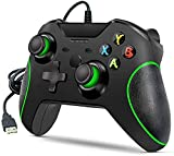 Zamia Xbox One Wired Controller, Wired Xbox One Game Controller USB Gamepad Joypad Controller with Dual-Vibration for Xbox One PC Windows 7/8/10 (Black)