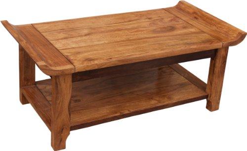 Guru-Shop Salontafel, Salontafel met Plank `Oriënt` R 1291 - Model 8, Bruin, 48x120x60 cm, Salontafels Vloertafels