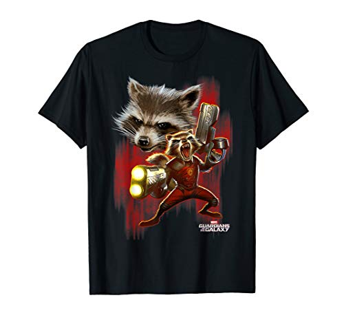 Marvel Guardians Of The Galaxy Twisted Rocket T-Shirt