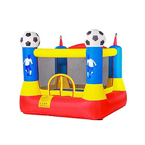LGLE Trampolín castillo animal,Trampolín para niños,Con red protectora castillo,Castillo inflable plegable del paraíso,Juguetes de cama de rebote interior,220X230X195CM,