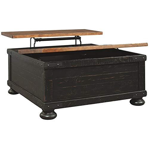 BOWERY HILL Lift Top Coffee Table in Vintage Black