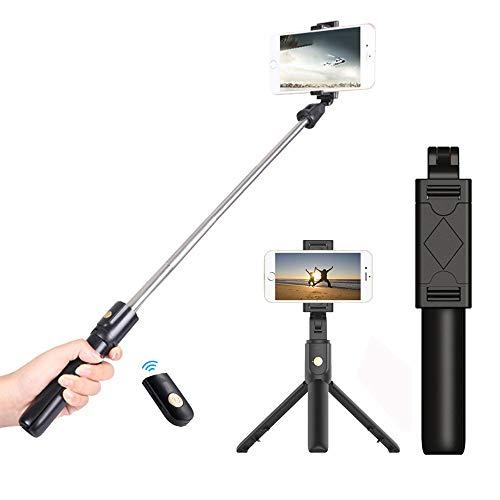 JUMKEET Perche Selfie, 3 en 1 Bâton de Selfie...