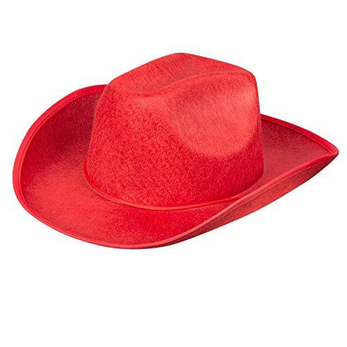 Boland - Sombrero de Vaquero para Adulto, tamaño estándar, Color Rojo (4075)