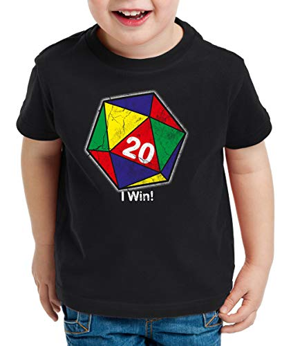 style3 Sheldon W20 Color Rubic Camiseta para Niños T-Shirt, Color:Negro, Talla:152