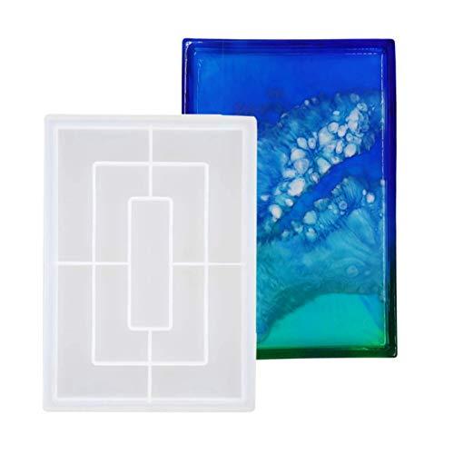 Gaosaili Gran bandeja de silicona para moldear, grandes formas de silicona, resina epoxi, molde DIY de resina, bandeja de fruta, accesorio de arte (27 x 20 cm)