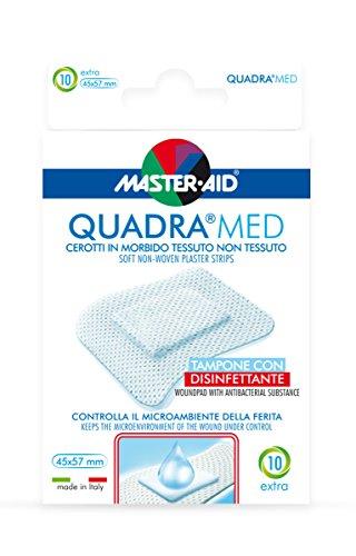 Master Aid Quadra Med Strip Extra - Paacco da 10 45X57 mm