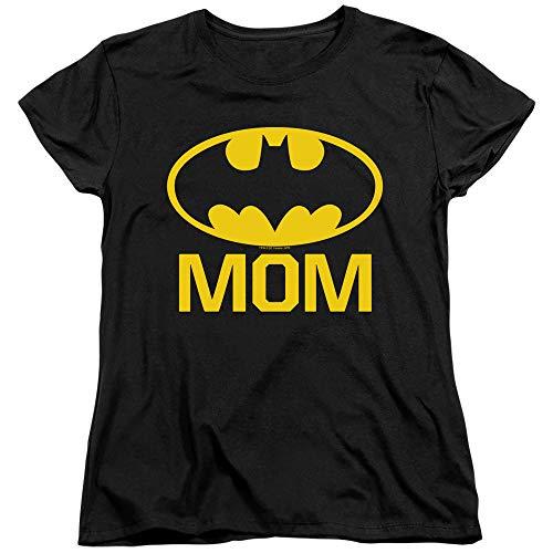 Trevco Batman Bat Mom Women's T Shirt, Large Black