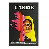 Qqwer Carrie映画ホラーポスターキャンバス絵画壁アート写真キャンバスに印刷ポスターとリビングルームの装飾用プリント-50X70Cmx1Pcs-フレームなし