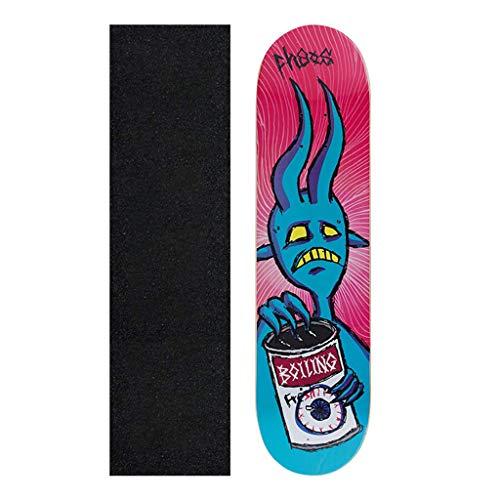 Zjcpow Komplett Skateboards, 31-Zoll-Pro Skateboard, Tricks Skate-Brett for Anfänger Pro, Double Kick-7-Schicht kanadischen Ahornholz Concave Skateboard, A xuwuhz (Color : B)