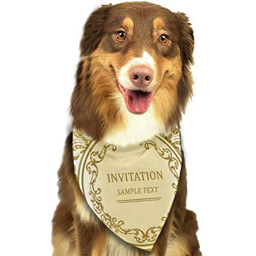Sjabloon frame ontwerp voor wenskaart Vector Illustratie aangepaste hond kat Bandana driehoek slabbetjes sjaal huisdier geschikt voor kleine tot grote hond katten