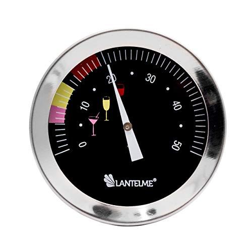Lantelme Weinthermometer aus Edelstahl Weintemperaturmessung für Weinflasche und Weinglas Thermometer Wasserdicht 5954