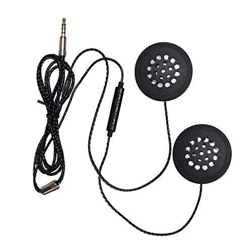 VORA Auriculares con Cable Moto Intercomunicador Casco Auriculares de MúSica de 3,5 Mm Manos Libres con MicróFono HD para Motociclista