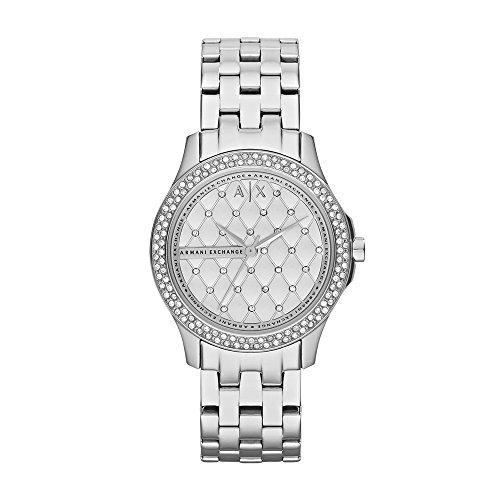 Armani Exchange Damen Analog Quarz Uhr mit Edelstahl Armband AX5215