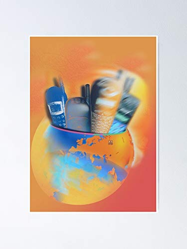 Mobile Phones World - Design by Acci Poster 11.7x16.5 Inch
