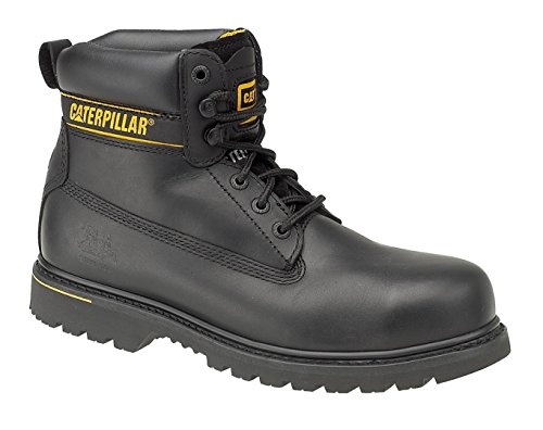 Caterpillar Herren Holton S3Sicherheit Arbeit Stiefel, Schwarz - schwarz - Größe: 42 EU