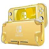 TNP - Custodia protettiva per Nintendo Switch Lite 2019, in policarbonato rigido, leggera, antiscivolo, resistente agli urti, antigraffio (trasparente)