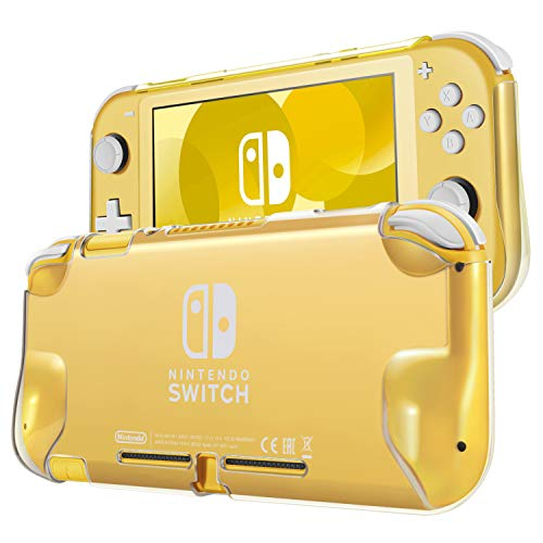 TNP Hard Case for Nintendo Switch Lite Case Skin Back Cover (Crystal Clear) Comfort Grip Enhance, Lightweight, Slim, Scratch & Shock Protector Protective Shell Nintendo Switch Lite Accessories