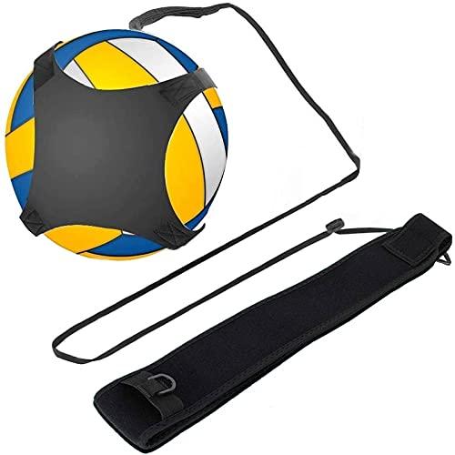 Equipo Entrenamiento Voleibol Ayuda, Entrenamiento Fútbol con Cuerdas Ajustables Cintura Servir, Pinchar, Ajustar, Golpear y Practicar en Solitario Rotación, Brazos, Apto Niños, Adolescentes y Adultos ✅