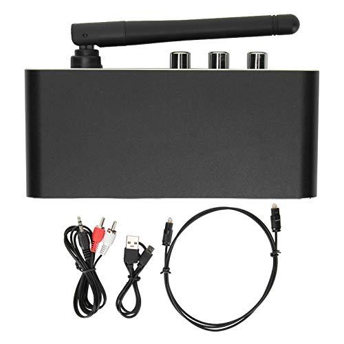 FOLOSAFENAR Transmisor Receptor Bluetooth 5,0 Bluetooth transmisor Receptor inalámbrico de Salida RCA AVX Negro para TV Reproductor de CD MP3