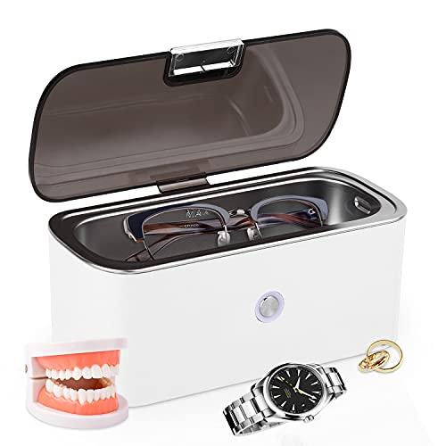 Ultraschallreinigungsgerät 50KHZ Ultraschallreiniger Brillenreinigungsgerät, Ultraschallreinigungsgerät Brille Ultrasonic Cleaner, Ultraschallbad, Ultraschallreiniger Brille(Mehrweg)