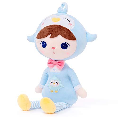 Gloveleya Plüschpuppe Kuscheltier Stoffpuppen Baby Geschenk Kleinkindpuppen Weich und sicher zu Spielen Keppel Serie - Pinguin