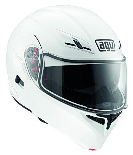 AGV J1021A4E0001S Casco Compact E2205, Solid Bianco, Misura 5