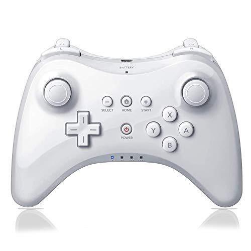 Pro Controller for Wii U, PowerLead Wireless Controller Gamepad for Nintendo Wii U Dual Analog Game Remote Joystick (White)