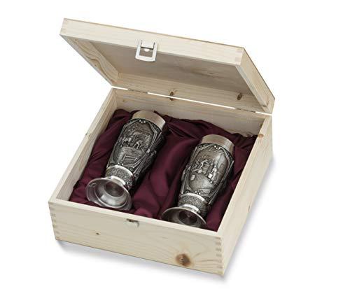 Artina 10324 2 Tulipanes Pils gambrinus 15,5 cm h Copa para Cerveza estaño Vasos