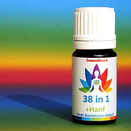 Hanf Cannabis + 38 in 1 ALL-in-ONE Bachblüten UNIVERSAL Globuli: Innere Ruhe, Entspannung, Krisenfall, SOS, Harmonisierung von Geist & Seele uvm. IN EINEM PRODUKT